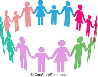 sociale, diversità, famiglia, comunità, persone
