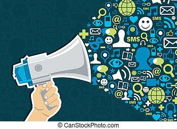 sociale, media, marketing
