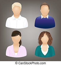sociale, persone, icone