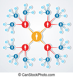 sociale, web, diagram., rete, marketing