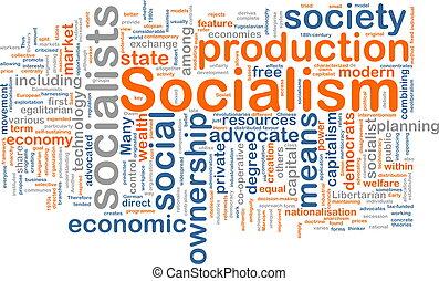 socialism, parola, nuvola