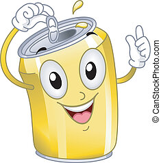 soda carbonato può, mascotte