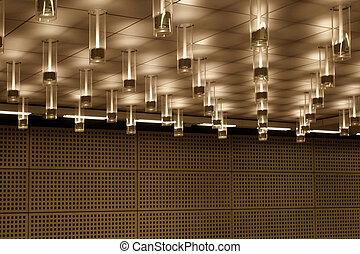 soffitto, moderno, illuminazione