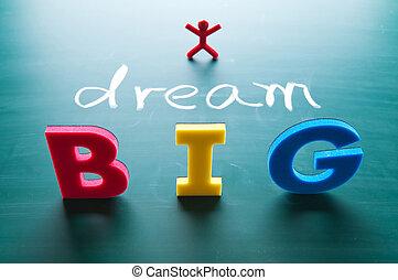 sogno, concetto, grande