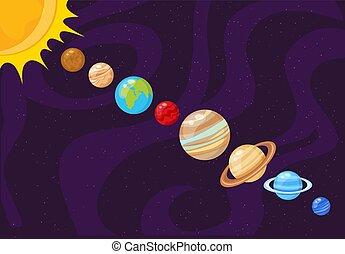 solare, system., pianeti