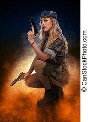 soldato, donna