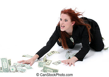 soldi, affari donna