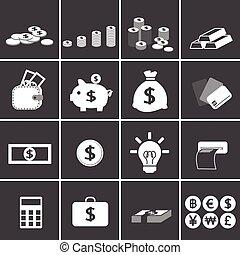 soldi, affari, icona