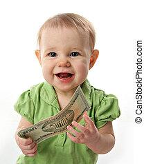 soldi, bambino