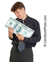 soldi, bianco, nursed, uomo affari