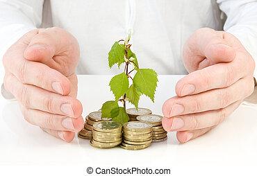 soldi, buono, fabbricazione, investimento