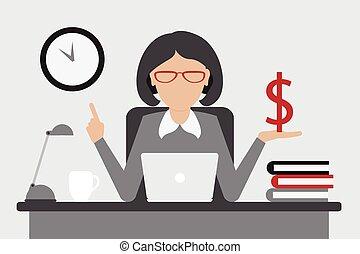 soldi, concetto, affari, tempo