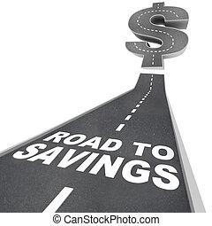soldi, dollaro, segno vendita, sconti, risparmi, risparmiare, trovare, strada