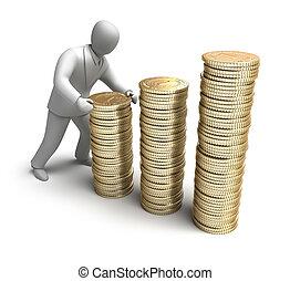 soldi, fare, whiteman, grafico