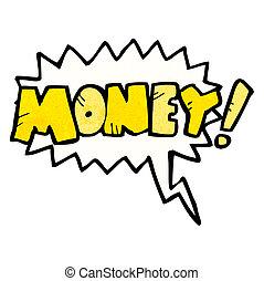 soldi, grido, cartone animato