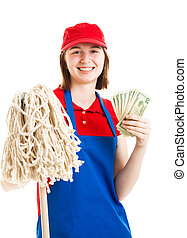 soldi, lavoratore, adolescente, guadagno