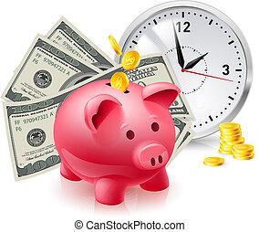 soldi, maiale, moneybox