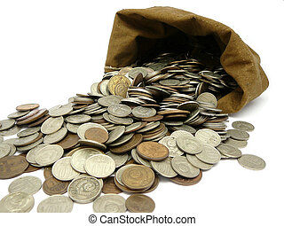 soldi, monete, borsa