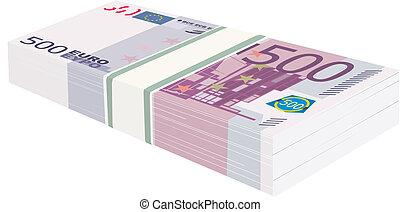 soldi, pacco, euro