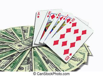 soldi, poker, cartelle