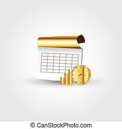 soldi, quaderno, tempo