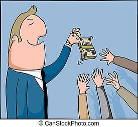 soldi, stuzzicare