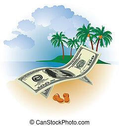 soldi, vacanza