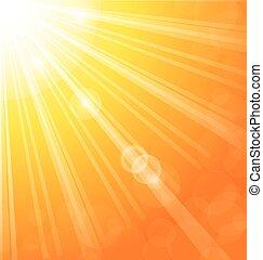 sole, astratto, raggi, fondo, luce