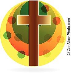 sole, croce, logotipo