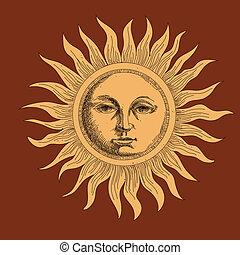 sole, disegno