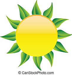 sole, foglie, verde