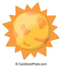 sole, immagine, sistema, solare