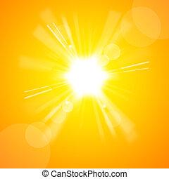 sole, luminoso, giallo