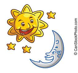 sole, luna