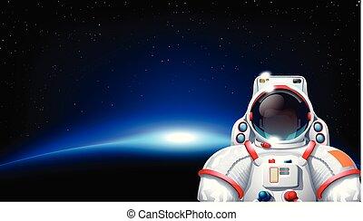 sole, pianeta, astronauta