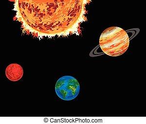 sole, pianeti