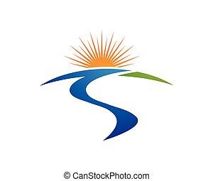 sole, sagoma, logotipo