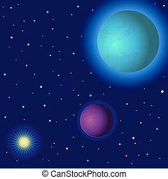 sole, spazio, pianeti
