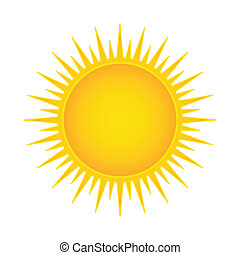 sole, vettore, illustrazione