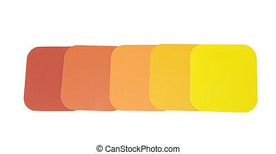 solido, colori luminosi, campioni