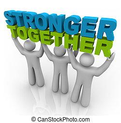 sollevamento, -, più forte, parole, insieme