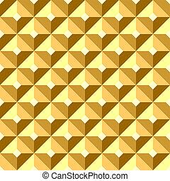 sollievo, pattern., seamless, dorato