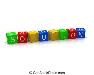 soluzione, cubi