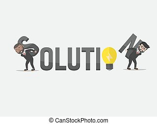 soluzione, uomo affari