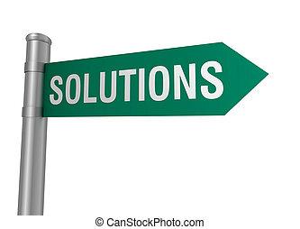 soluzioni, segno strada