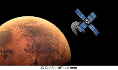 sonda, marte, spazio, orbitare