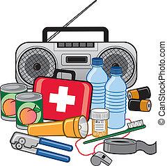 sopravvivenza, preparazione, emergenza, kit