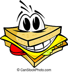 sorridente, panino
