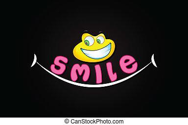 sorriso, fondo