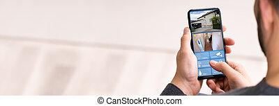 sorveglianza, macchina fotografica cctv, sicurezza casa